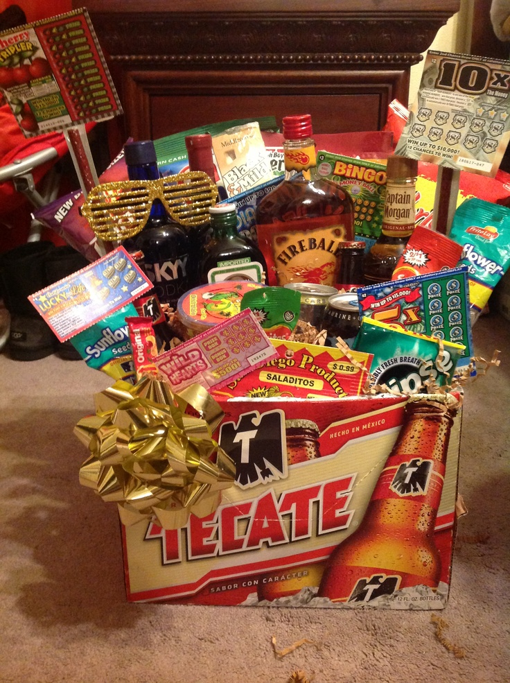 Mens Gift Basket Birthday Instead Of Alcohol Get Stuff From