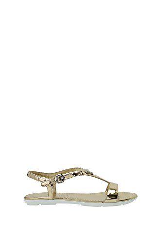 Sandalen Prada Damen Leder Platinum 1X448FPLATINO Gold 36EU - http://on-line-kaufen.de/prada/36-eu-1x448fplatino-prada-sandalen-damen-leder