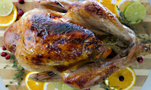 Depart from the traditional and try this citrus and herb butter basted turkey. Everyone will be drawn to the kitchen by the intoxicating aroma of this turkey while its roasting!