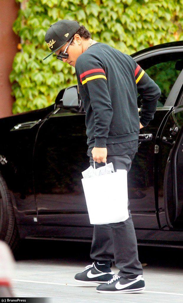 Bruno Mars wearing Nike Cortez, Black | Coolest Kicks ...