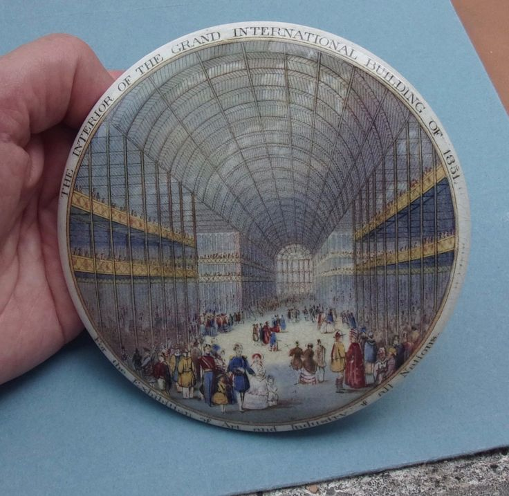 RARE CRYSTAL PALACE GREAT EXHIBITION 1851 LARGE PRATTWARE POT LID MINT CONDITION | eBay