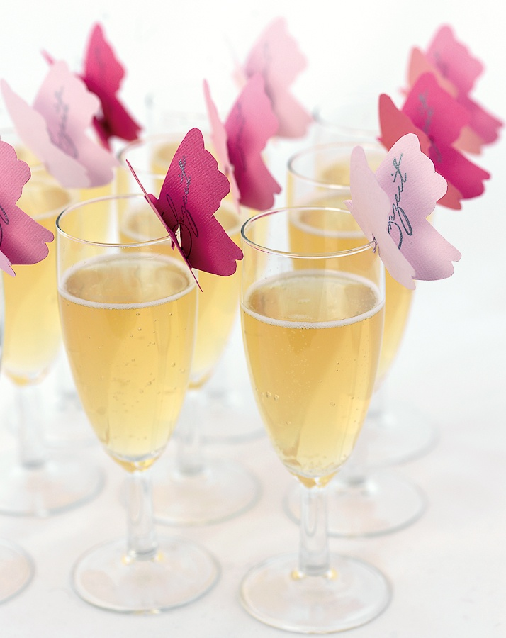 Schmetterlinge. Sektempfang HochzeitNamensschilder HochzeitHochzeitsdeko  IdeenEinladungen ...