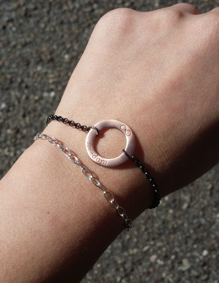 "The beautiful Phoenix bracelet in sterling silver combined with our newest bracelet from the ""Circle of Change"" collection in rhodinated and rose plated silver. Out soon! #1people #1peopletogether #danishdesign #jewellery #fashion"
