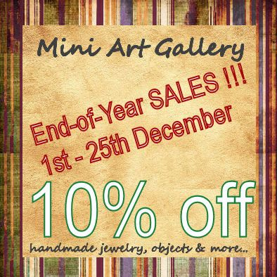 10% off - End-of-year SALES. https://www.etsy.com/shop/MiniArtGallery