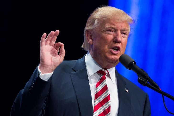 """In this Sept. 22, 2016, photo, Republican presidential candidate Donald Trump speaks in Pittsburgh. Trump says colleges and universities should be using their endowments to make college more affordable but too many are using """"the money to pay their administrators or put donors' names on buildings or just store the money, keep it and invest it."""" But that's not exactly how endowments work. (AP Photo/ Evan Vucci)"""