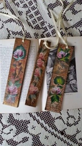 Handpainted tags/bookmarks