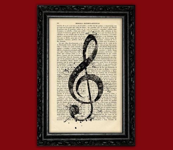 Violinschlüssel Zeichen Drucken von ThePurpleHamster auf Etsy