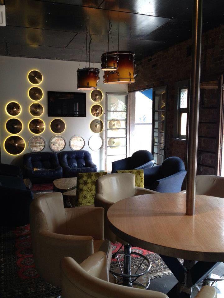 The Bridge Hotel, Richmond  http://www.thebridgehotel.com.au/ Cymbal lighting fixture  Drum kit pendants
