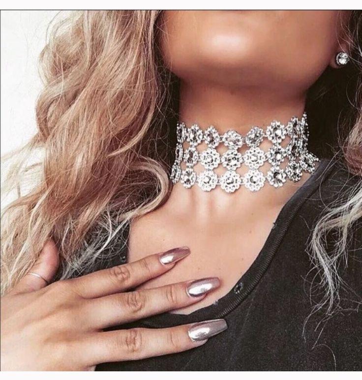 3 layer choker Chokers, Flower choker necklace, Jewelry