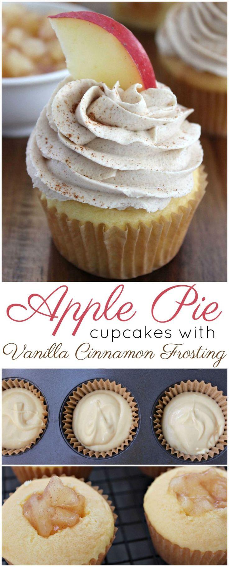 Apple Pie Cupcakes with Vanilla Cinnamon Frosting …