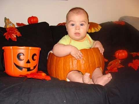 pumpkin halloween baby