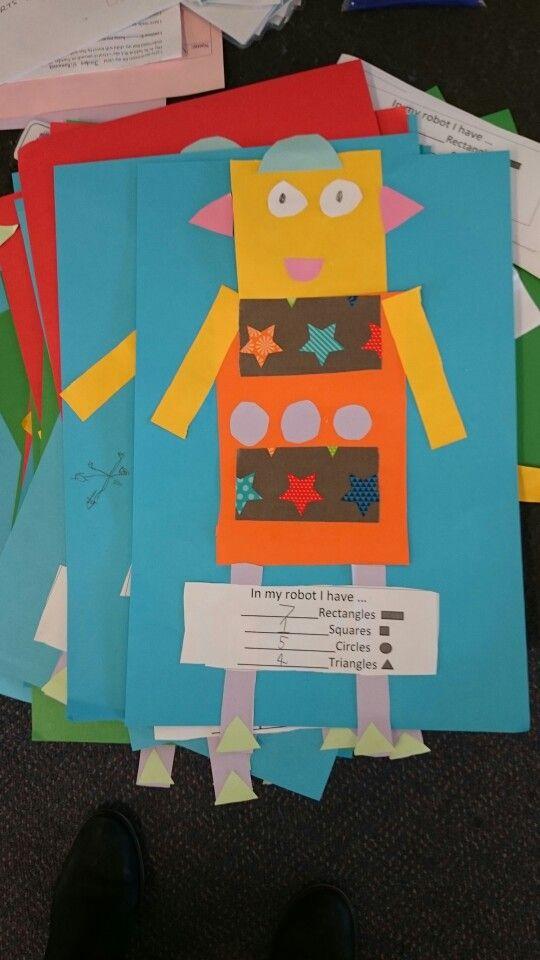2d shapes robot