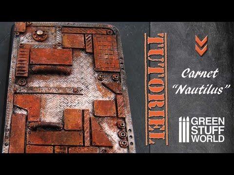 "Tuto fimo/polymère Carnet ""Nautilus"" - YouTube"