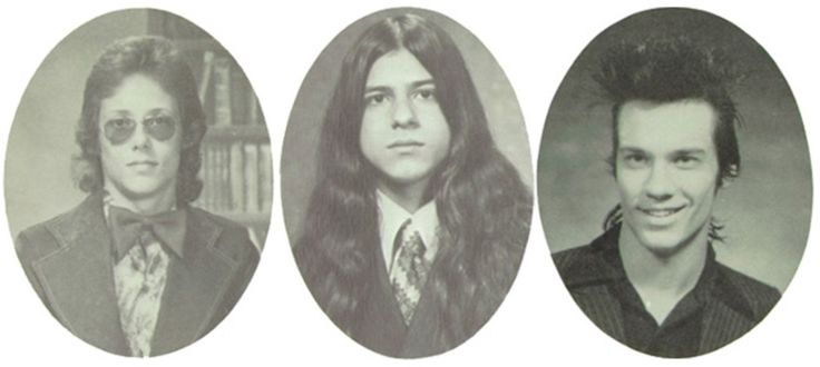 "holidazehalloween: "" Jerry Only, Glenn Danzig, and Doyle - yearbook photos Misfts!!! """