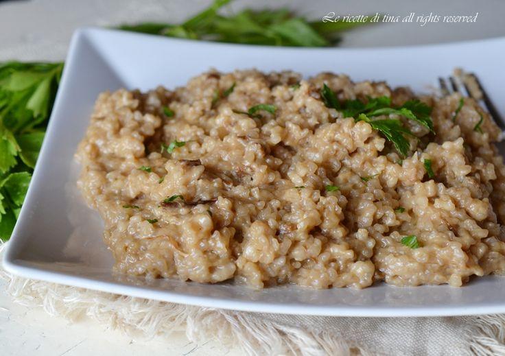 Risotto con funghi bimby un primo piatto gustoso,semplice e veloce