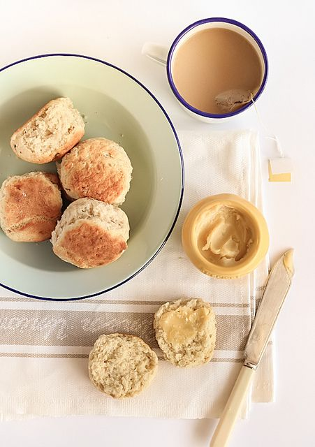 Banana Scones with Whipped Honey Butter by raspberri cupcakes