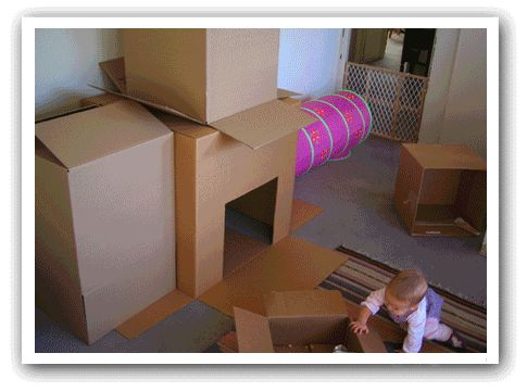 The Amazing Cardboard Cat(box) Castle!