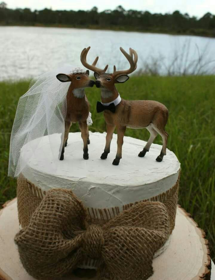 deer cake toppers buck and doe cake topper my wedding themed 3473