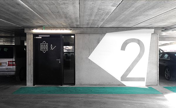Signage & wayfinding of St. Lucas Hospital // Abscis Architects