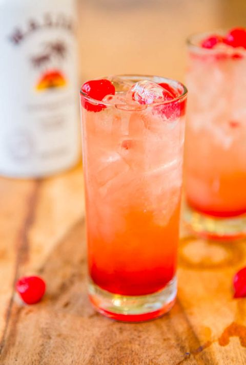 Malibu sunset from aruba fun fruity easy drink recipe for Easy fruity mixed drinks