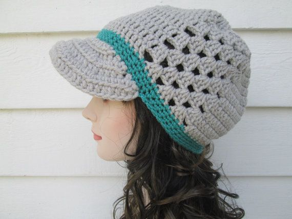 This item is ready to ship. A perfect gift for Fall and Winter, its sure to be loved. This handmade Womens Hat is very beautiful and modern for any age. Its soft and warm and cozy  How pretty is the colors of this visor handmade hat. *Wash Care instructions*  I recommend hand washing - do not tumble dry.  Great quality, very nicely, professionally made.  All items in my shop are made by me in a smoke free and pet free home.  Please do not forget to read my shopping policies before ordering…