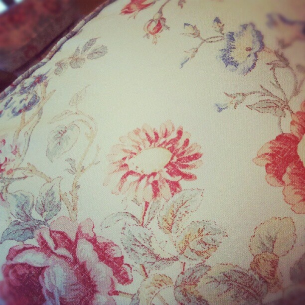 Fabulous couch with a floral print.