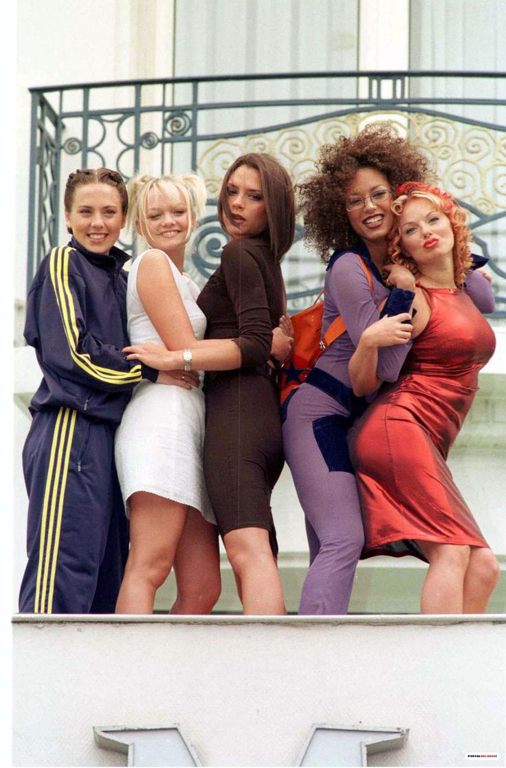 I had sporty spice's track suit!!!