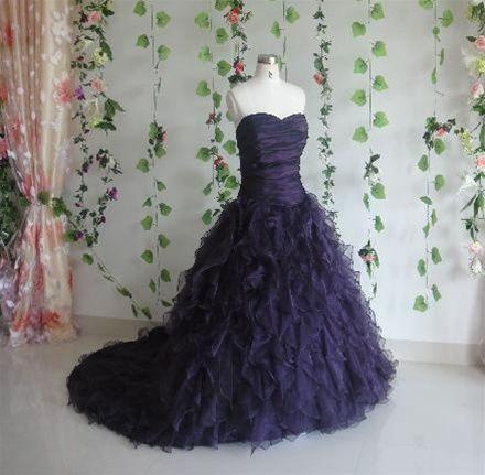 Purple Wedding Dress!!  How enchanting is this?
