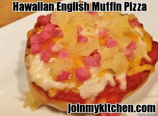 Hawaiian English Muffin Pizza Recipe