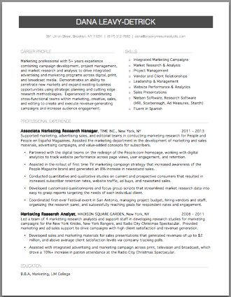 marketing research resume resume studio