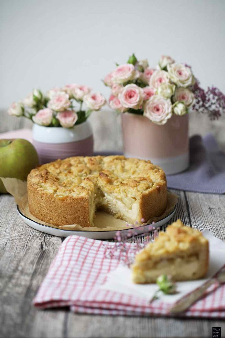 Leckerer Apfelmus-Streusel-Kuchen | Fräulein Meer backt