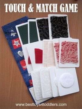 Touch and Match Game with textured cards - 4 different ways to play with one set of textured cards