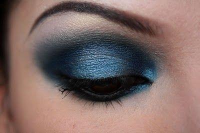 midnight blue smokey eye: Makeup Trends, Makeup Tools, Eye Makeup, Makeup Collection, Eye Shadows, Brown Eye, Smokey Eye, Deep Blue, Blue Eyeshadows