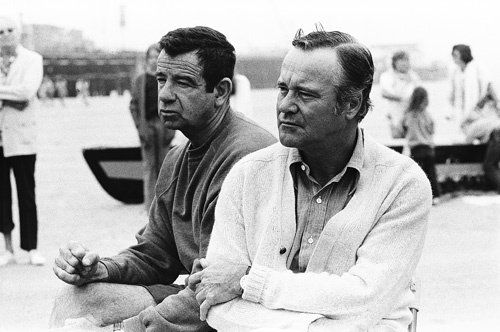 "Walter Matthau and Jack Lemmon - Walter once said about his friend Jack that he is ""a clean-cut, well-scrubbed Boston choirboy with quiet hysteria seeping out of every pore."" When Matthau was dying in 2000, it is said that Lemmon never left his bedside."