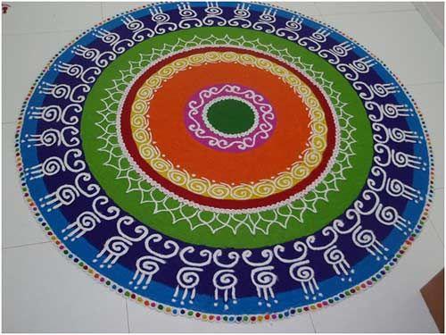 10 Amazing Rangoli Designs Without Dots