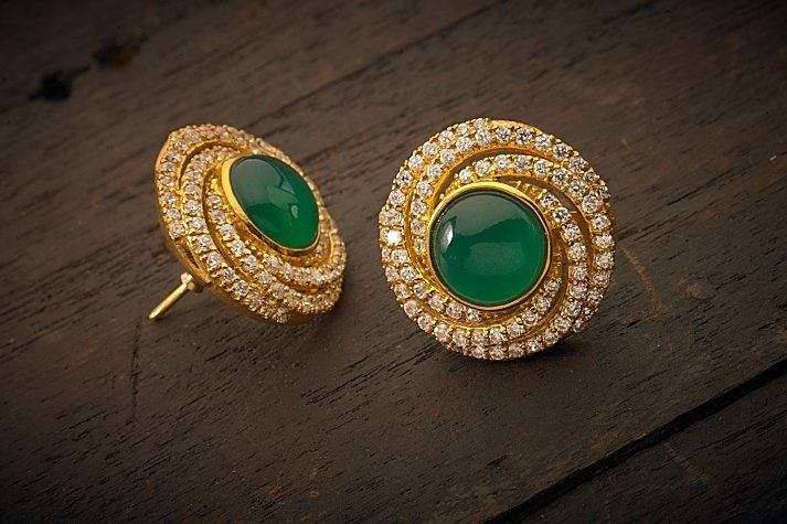 Indian Jewellery and Clothing: Elegant earrings from Kushal's fashion jewellery..