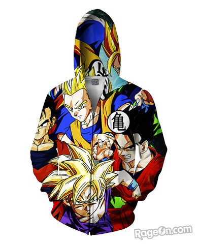 Dragon Ball Z Zip-Up Hoodie - RageOn! - The World's Largest All-Over-Print Online Store