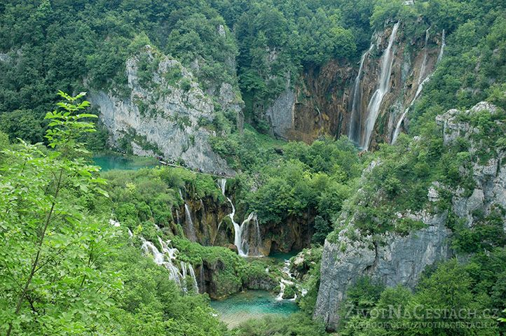 Plitvická jezera Chorvatsko
