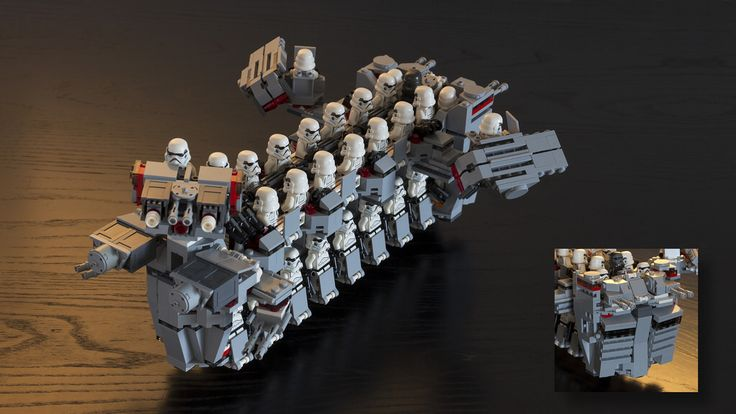 Imperial Troop Transport IV (Base on 9 sets of 75078)  Full load 50 Stormtroopers