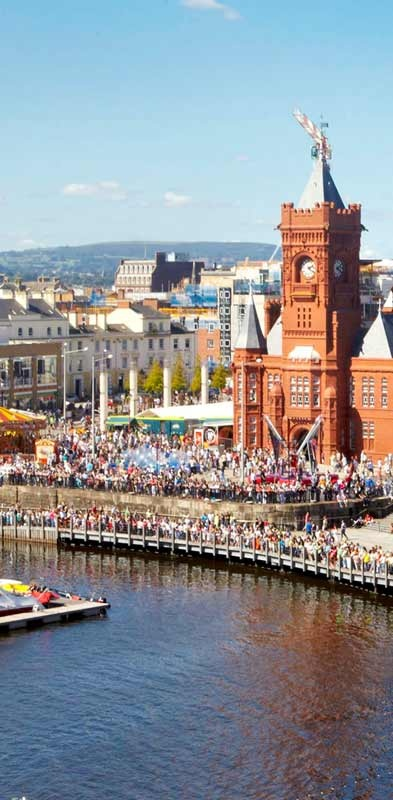 Such great colours! 'View of Cardiff bay during Cardiff festival' (repinned from Jimmy Dean)