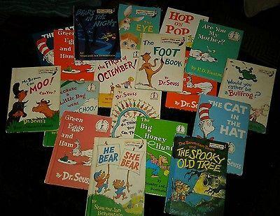 Dr Seuss 18 Book Lot - Beginner Books, Bright And Early, Beranstein Bears