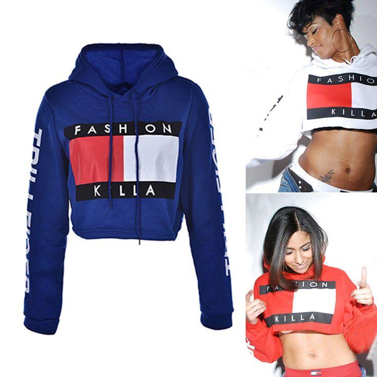 Women Hoodie Sweatshirt Jumper Sweater print crop Coat sports Pullover Tops USLY | Clothing, Shoes & Accessories, Women's Clothing, Sweats & Hoodies | eBay!