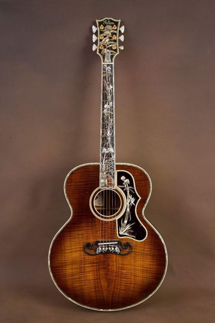 Gibson Sj 200 Koa Master Museum Custom Acoustic Guitar J 200 Ebay Electricgibsonguitar Custom Acoustic Guitars Bass Guitar Case Gibson Acoustic