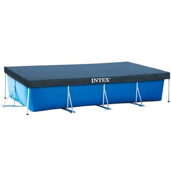Intex カバー付き家庭用大型プール レクタングラ フレームプール