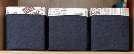 коробки из джинсовой ткани, джинсовые коробки