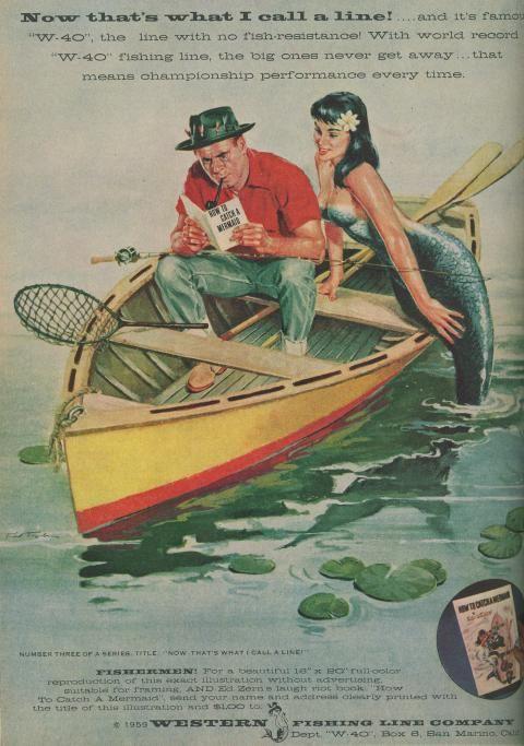 mermaid vintage ad