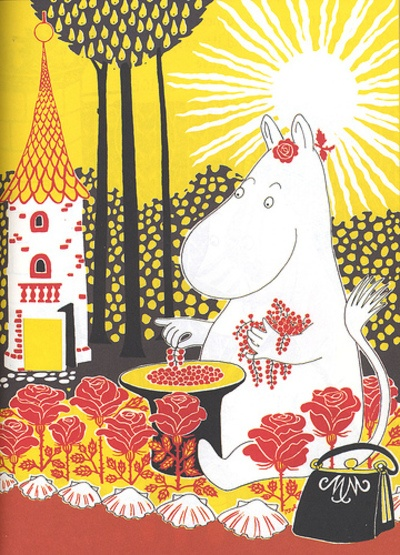 Moomin mamma. We love Tove Jansen's moomintrolls, and want to visit Finland's Moomin forest someday!