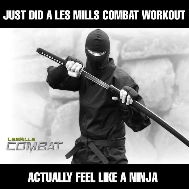 Just did a Les Mills Combat workout. Actually feel like a ninja! #bodycombat #ninja