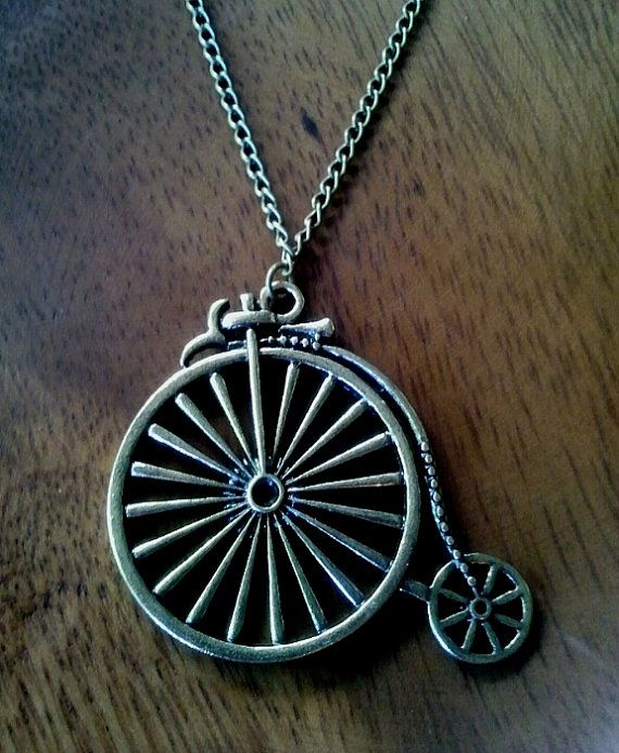 Antiqued Vintage Bronze Large Oldfashioned Bicycle by LaLaCrystal,