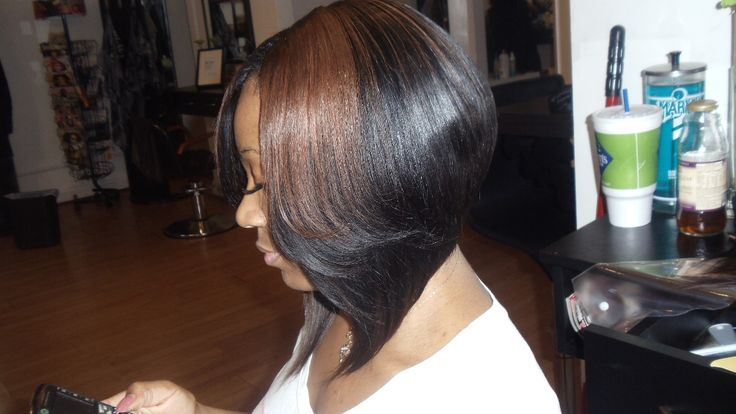 bob hairstyle on african american hair | Platinum Stunner Hairstyles For African American Hair